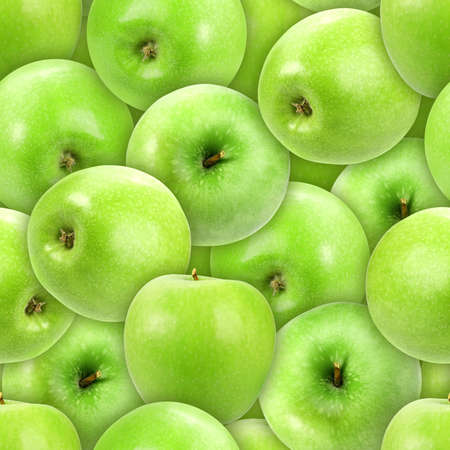 Abstract background of heap fresh green apple. Seamless pattern for your design Stock Photo - 13693050