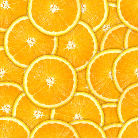 Abstract background of heap fresh orange slices. Seamless pattern for your design