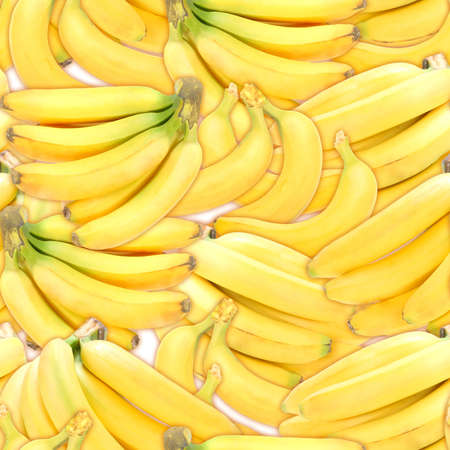 Abstract background with branches of fresh ripe yellow bananas. Seamless pattern for your design. Close-up. Studio photography. Stock Photo - 13688611