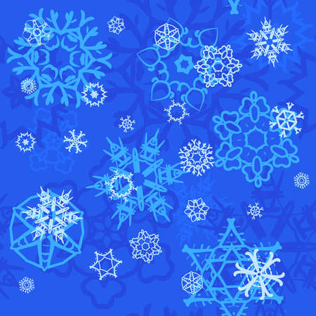 Abstract christmas seamless pattern with snowflakes. Vector