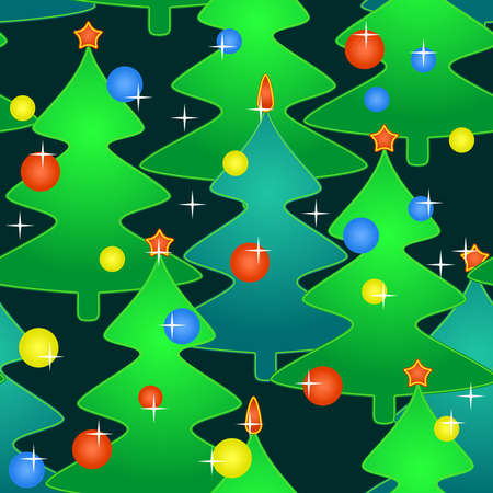 Abstract seamless pattern with holidays christmas-trees   illustration  Vector