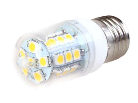 One energy-saving LED mini-lamp isolated on white background. Front view. Studio photography. Stock Photo - 18592412
