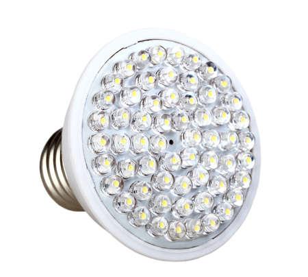 Cone energy-saving LED lamp isolated on white background. Studio photography. Stock Photo - 18626012