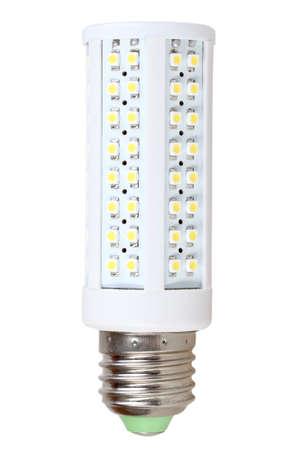 Only energy-saving LED-lamp isolated on white background. Studio photography. Stock Photo - 18626376