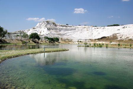 Lake in Pamukkale. Ancient city Hierapolis, Turkey. 2008. photo