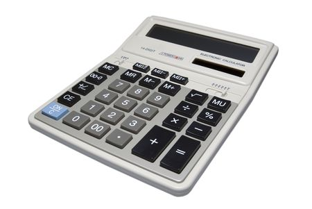 Calculator isolated on white background with clipping path.