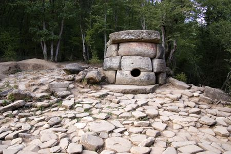 social history: Dolmens. Historical place. Stock Photo