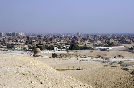Cairo cityscape from point near Sphinx. photo