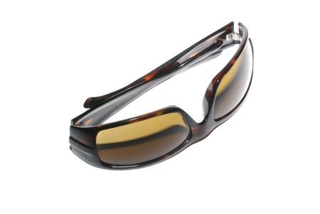 Stylish female sunglasses isolated on white background. photo