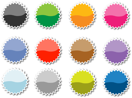 Set of empty vector tags for price or another design. Vector