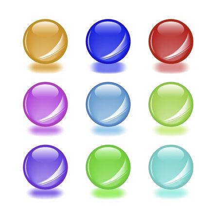 round glasses: Conjunto de vectores orbs brillante con sombras. Aqua estilo web 2.0. Como icono, bot�n u otro elemento de su dise�o.