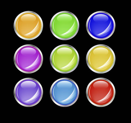 Set of shiny vector buttons with empty space for your design. Stock Vector - 4176554