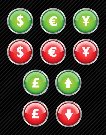 Set of vector interface icons for business theme. Easy to edit, any size. Aqua web 2.0. Stock Vector - 4185384