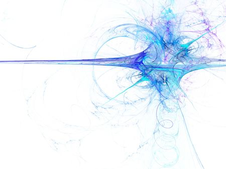 Digitally rendered abstract blue exploding fractal on white. Stock Photo - 4611439