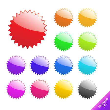 Multicolored glossy web elements. Perfect for text or icons. Vector aqua style. Illustration