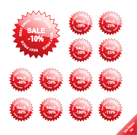 Collection of glossy marketing elements. Vector discount labels. Aqua web 2.0 style. Vector