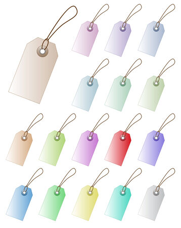Set of pastel colored vector price tag with empty space. Perfect for adding text, numbers, marketing design. Vector