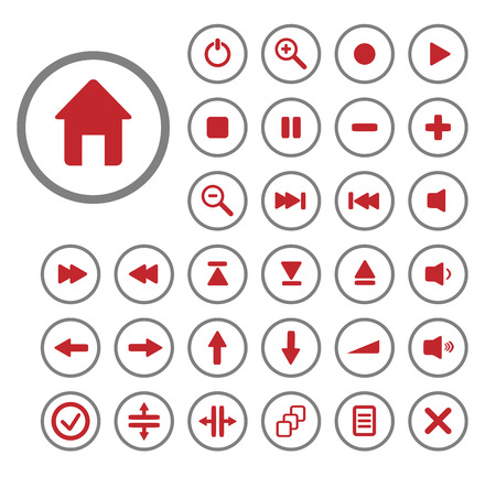 Collection of vector audio buttons. Easy to edit, any size. Stock Vector - 4713581