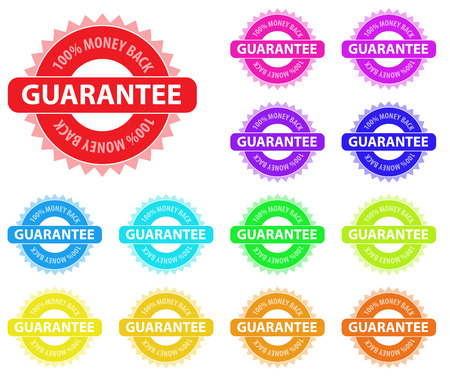 Collection of vector multicolored badges for sales marketing. Easy to edit, any size. Vector