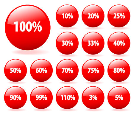 Set of vector aqua style discount buttons with shadow. Easy to edit, any, size. More in my gallery. Vector