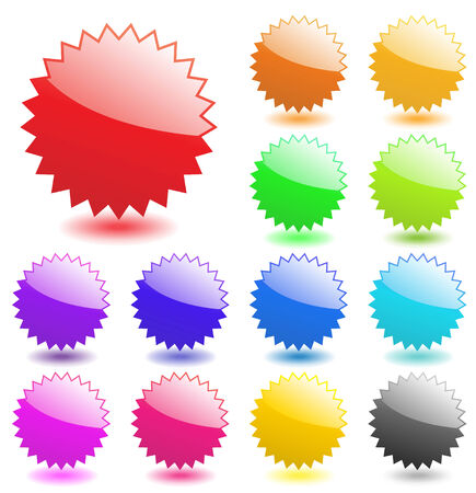 Multicolored glossy web elements. Perfect for adding text, icons. Vector aqua style. More in my gallery. Stock Vector - 4997532