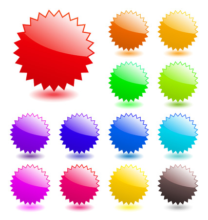 Multicolored glossy web elements. Perfect for adding text, icons. Vector aqua style. More in my gallery. Illustration