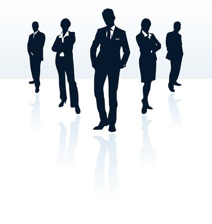 Silhouettes de vecteur de l'homme d'affaires et de la femme. Plus d'informations dans mon portefeuille. Illustration