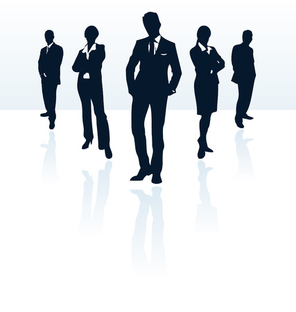 ternos: Silhouettes of vector business man and woman. More in my portfolio.