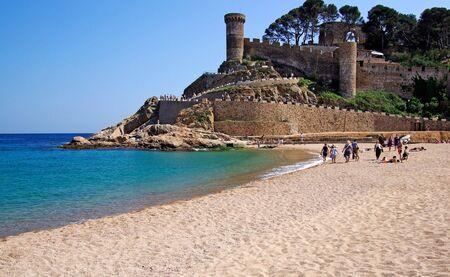 Castle view in Tossa de Mar, Costa Brava, Spain. photo