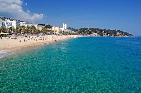 Seascape de plage de Lloret de Mar, Espagne. Plus d'informations dans ma galerie. Banque d'images