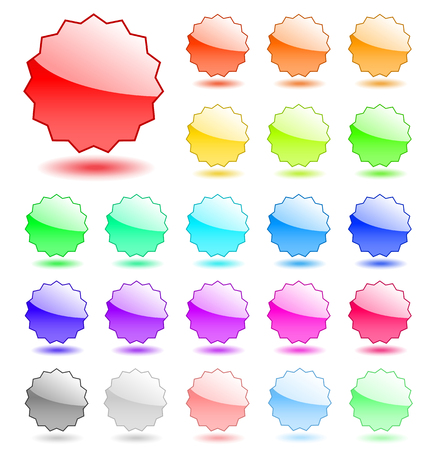 Collection of empty vector tags. Perfect for adding text or icons. Stock Vector - 4997568