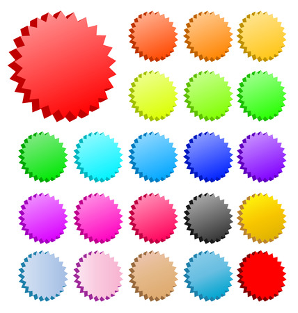 3D vector star badges collection. Perfect for icons or text. Stock Vector - 4997526