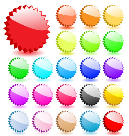 Set of 3D vector stars with shadows. Perfect for icons or adding text. Vector