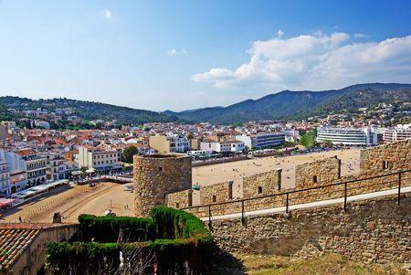 Tossa de Mar fortress and cityscape. Costa Brava, Spain. photo