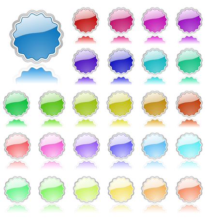 Collection of colored vector elements. Perfect for text or icons. Vector