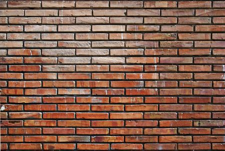 Abstract orange wall made of bricks. Good as background oe backdrop. Stock Photo - 5467568