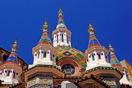 Parish Church of Sant Roma. Lloret de Mar, Costa Brava, Spain. photo