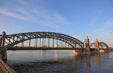 The Bridge of Peter the Great. Saint Petersburg, Russian Federation. photo