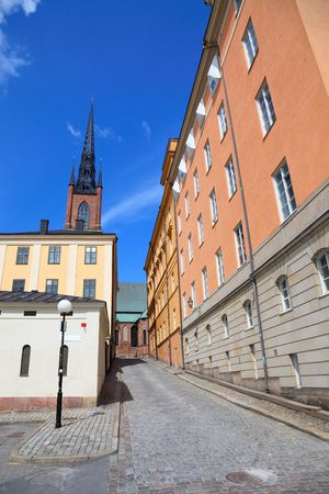 Architecture view of old central Stockholm.  Swefen, Scandinavian Europe. photo
