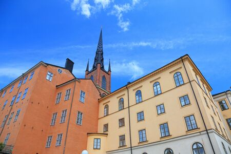 Architecture view of old central Stockholm, Sweden. photo