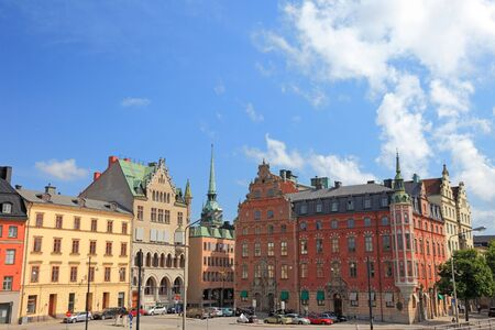 Cityscape of old central Stockholm, Sweden. photo