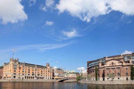 Parlament: Stockholm city view, Parlament building, Gamla Stan.