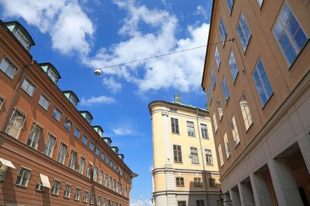 Stockholm architecture view, old town, Gamla Stan. photo
