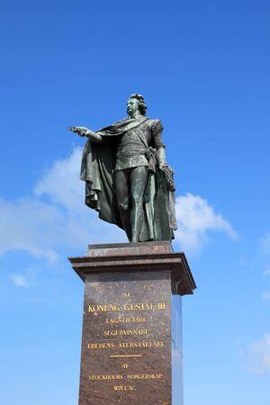 gustaf: Statue of king Gustaf III in Stockholm, Sweden.