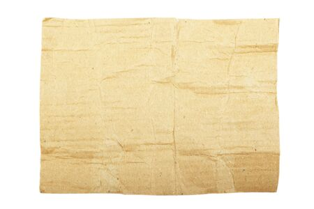 Torn cardboard isolated on white background. As textured background or backdrop. photo