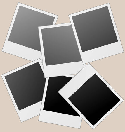 Realistic frames isolated on brown background. Vector