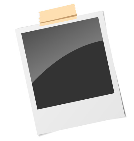 memory board: Marco realista con cinta adhesiva, aislado sobre fondo blanco. Vectores