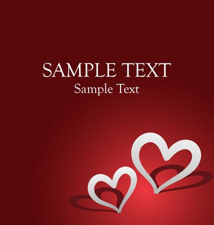 carte c�l�bration romantique pour la Saint Valentin ou d'anniversaire. Parfait pour ajouter du texte. Illustration