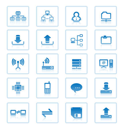 Collection of computer network communications icons. Stock Vector - 6845576