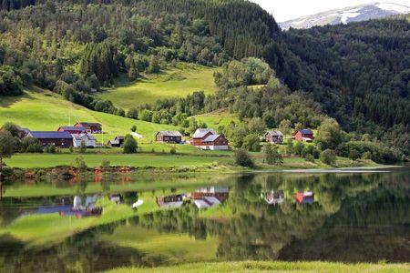Beautiful rural landscape deep in norwegian mountains, Scandinavian Europe. Stock Photo - 6902329